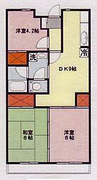ヒルサイドテラス鶴ヶ島[2階]の間取り