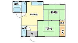 白国マンション[2-E号室]の間取り