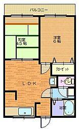 兵庫県豊岡市下陰の賃貸マンションの間取り