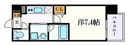 名古屋市営東山線 新栄町駅 徒歩10分の賃貸マンション 7階1Kの間取り