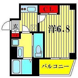 東武伊勢崎線 曳舟駅 徒歩5分の賃貸マンション 2階1Kの間取り