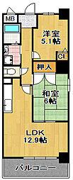 ナルトハイム[5階]の間取り