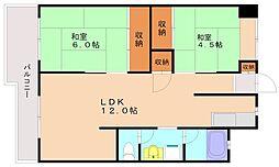 大橋アローハイム[2階]の間取り