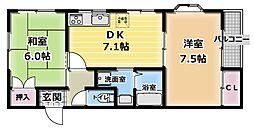 チェリーコートI[2階]の間取り