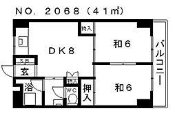 コーポ三明[302号室号室]の間取り
