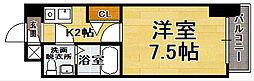 福岡県福岡市中央区赤坂2丁目の賃貸マンションの間取り