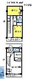 埼玉県坂戸市にっさい花みず木6丁目の賃貸マンションの間取り