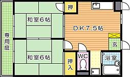 シャトレ大浦III[3階]の間取り