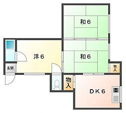 永楽荘[1階]の間取り