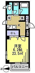 第60シンエイビル[4階]の間取り