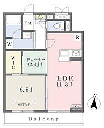 ルピナス 芝 3階1SLDKの間取り