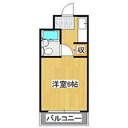 ダイヤハイツII[3階]の間取り