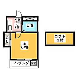 パレス桜[1階]の間取り