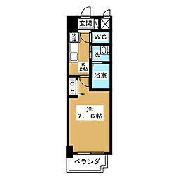 リバーコート砂田橋II[8階]の間取り