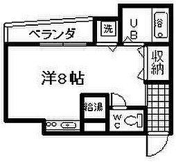 大阪府泉佐野市長滝の賃貸アパートの間取り