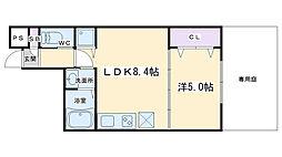 仮称)深草町通町新築マンション 1階1LDKの間取り