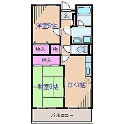 神奈川県横浜市鶴見区馬場7丁目の賃貸マンションの間取り