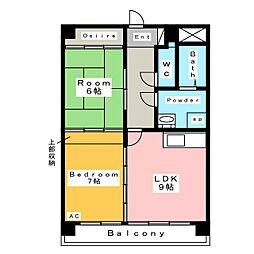 オーキッドマンション末広[6階]の間取り