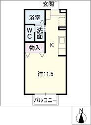 ラブリーフォート[2階]の間取り