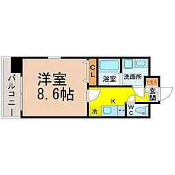 愛知県名古屋市中村区名駅5丁目の賃貸マンションの間取り