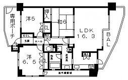 藤和八尾駅前ホームズ[701号室号室]の間取り