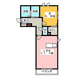 エイトスクエア[1階]の間取り