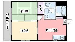 福岡県福岡市西区下山門3丁目の賃貸マンションの間取り