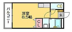 ビアンハイツ柚の木[1階]の間取り