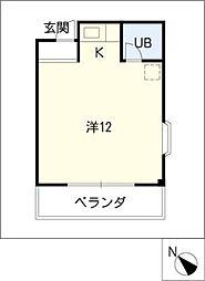 アンフィニ幸田[2階]の間取り