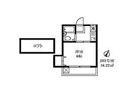 大岡山グレイス[203号室]の間取り