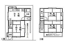 都営新宿線 一之江駅 徒歩16分 3DKの間取り