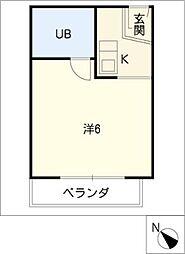 ドール豊明[2階]の間取り