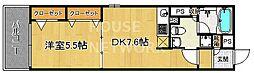 G-CREST京都四条烏丸[606号室号室]の間取り