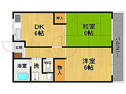 木村ハイツ[2階]の間取り