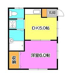 コーポヤイタ[1階]の間取り