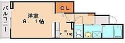 プール・トゥジュール[1階]の間取り