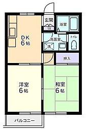 ベネッセ・オオクラA[2階]の間取り