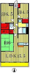 リズ松戸[3階]の間取り