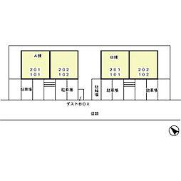 フレッシュタウン21[1階]の外観