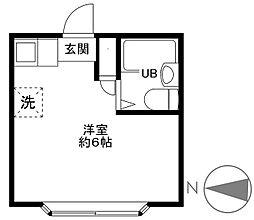 東京都小金井市桜町1丁目の賃貸マンションの間取り