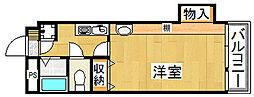 ケイキュービック[4階]の間取り