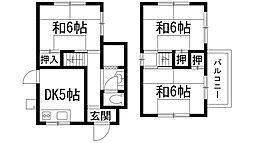 [一戸建] 兵庫県宝塚市平井山荘 の賃貸【/】の間取り