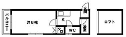 ウェールハウス[205号室]の間取り