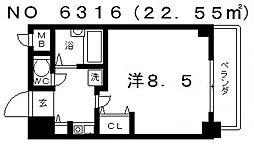 クレセント谷町[7階]の間取り