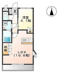 香川県高松市一宮町の賃貸マンションの間取り