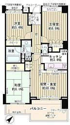 上野毛パークホームズアダージオ[4階]の間取り
