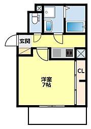愛知県豊田市広川町10丁目の賃貸アパートの間取り