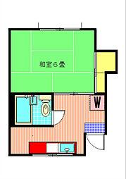 大森アパート 初台の閑静な住宅街に佇むAP 美室ですよ 仲介[2階]の間取り