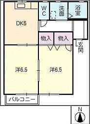 シルクロードA棟[1階]の間取り