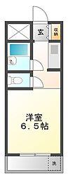 ハイツ冨久井II[1階]の間取り